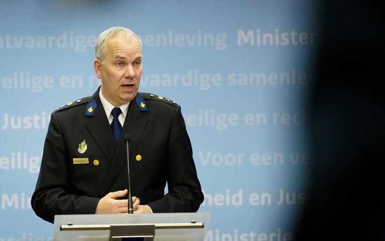 Het hoofd van de repatriëringsmissie Pieter Jaap Aalbersberg. Beeld anp