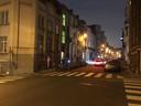 Niemand kon gisterenavond een tijdlang in de Kanunnikenstraat (straat links).