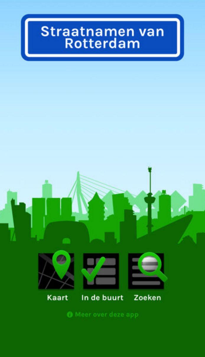 De 'Straatnamen van Rotterdam' app is sinds vandaag verkrijgbaar.