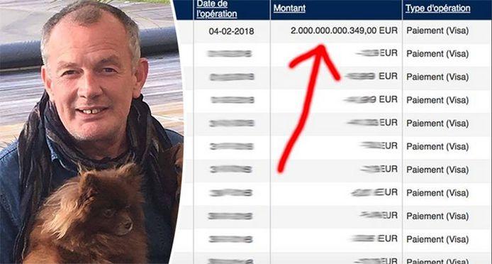 Plots stond er 2.000.000.000.349 euro op Lucs rekening
