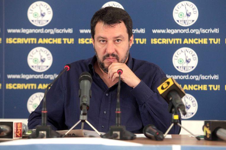 De leider van de Italiaanse partij Lega Nord Beeld EPA