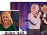 Angela Groothuizen op podium met eigen dochter