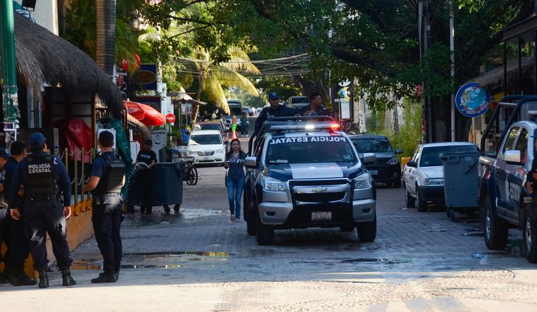 Foto ter illustratie. Politie in Playa del Carmen.