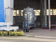 Groot Romeins masker op boot getakeld voor enkeltje Millingen-Nijmegen