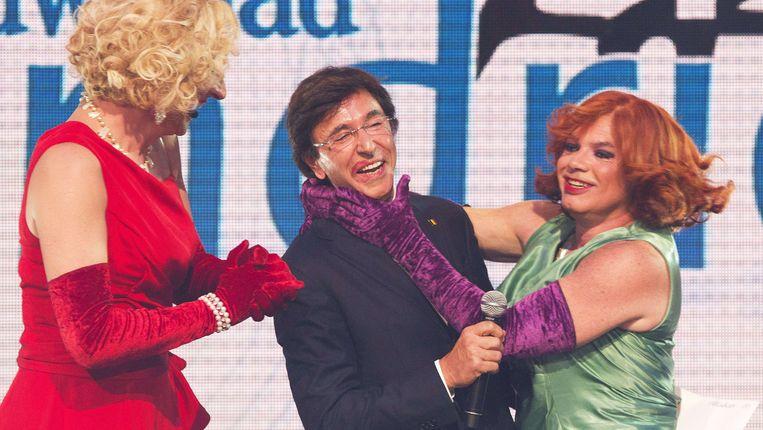 Archieffoto van Debby en Nancy met premier Elio Di Rupo. Beeld AFP
