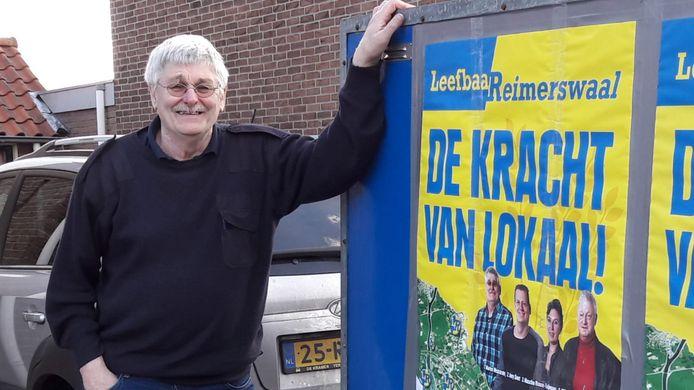 Marien Weststrate tijdens de campagne voor de gemeenteraadsverkiezingen van 2018.