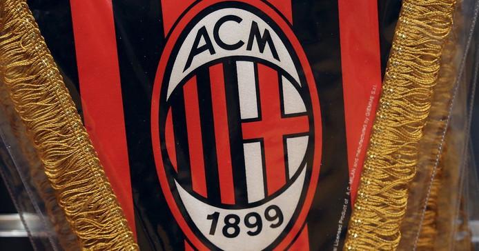 Het logo van AC Milan.