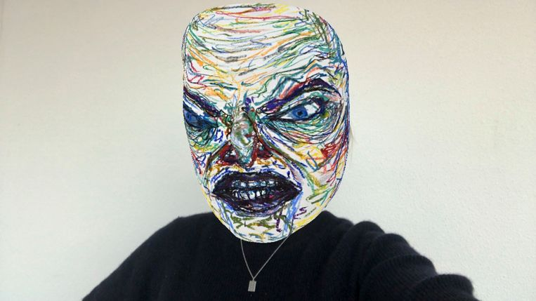 Met augmented reality maakte Mette Sterre haar eigen Instagramfilter met de titel aaarrrgh grrr hmppf. Beeld