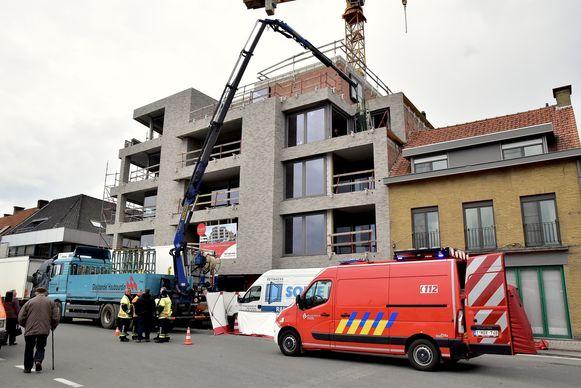 Residentie Hof van Vlaanderen, de residentie in aanbouw waar het drama gebeurde.