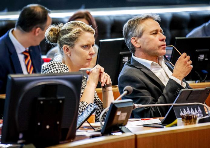 Marianne van der Sloot (CDA) en Rik Grashoff (GroenLinks) tijdens het statendebat van 25 oktober.