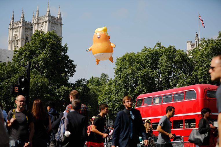 De ballon in Londen. Beeld AFP
