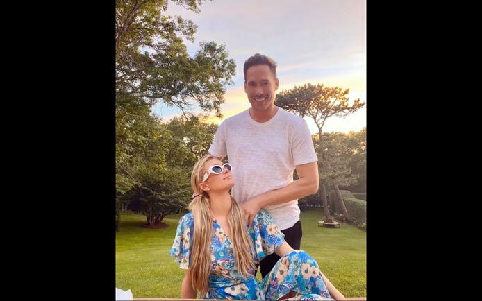 Paris Hilton en haar vriend Carter Reum