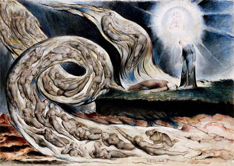 Illustratie van William Blake bij Canto V uit Dantes Hel. Beeld Getty
