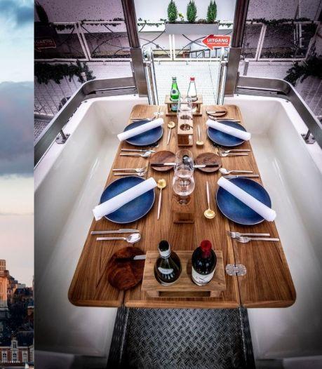Prendre de la hauteur et dîner dans la Grande Roue de la place Poelaert