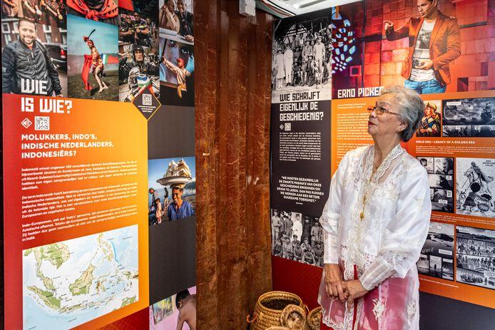 De 82-jarige Lin de Fretes-Laisina opende eerder deze maand in Moordrecht de reizende tentoonstelling over de geschiedenis van 70 jaar Molukkers in Nederland