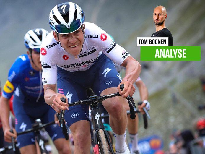 Tom Boonen zag Evenepoel in Campo Felice alweer een goeie stap zetten in de Giro.