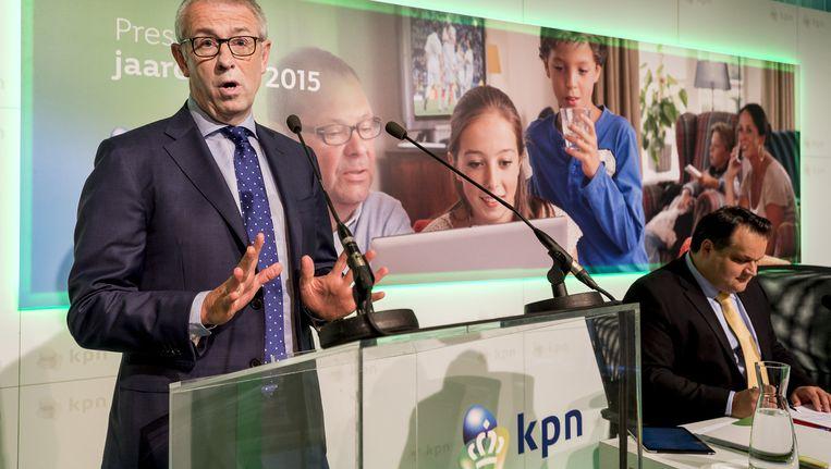 Komend jaar wil KPN topman Eelco Blok 450 miljoen euro besparen Beeld anp