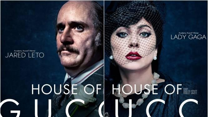 Lady Gaga en Jared Leto zijn onherkenbaar op nieuwe filmposters van 'House of Gucci'