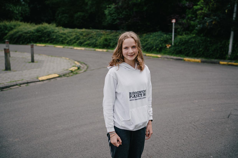 Elise Laporte (12) uit Gent: 'Ik ken niemand die nog twijfelt om een vaccin te nemen.' Beeld Wouter Van Vooren