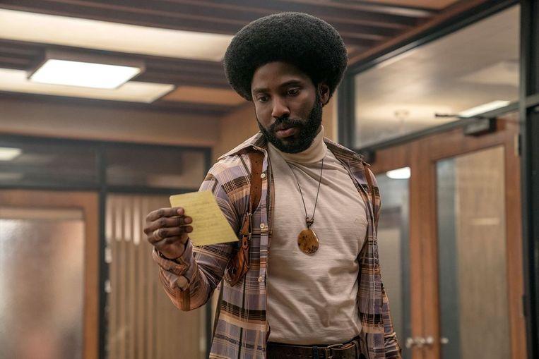 John David Washington in 'BlacKkKlansman'. Beeld