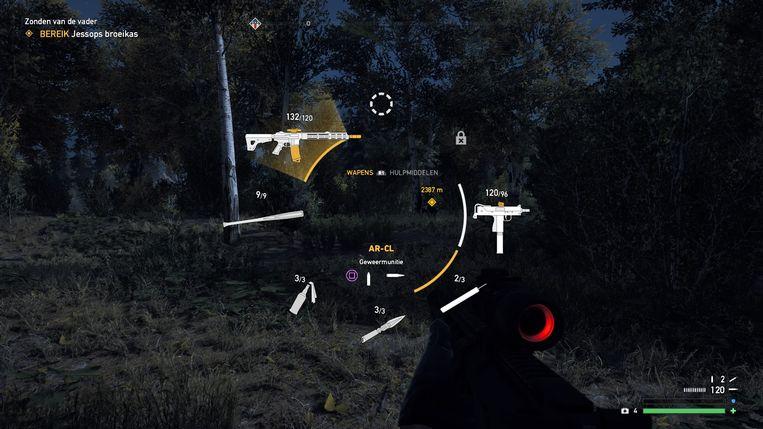 Je wisselt heel snel van blaffers, maar in het begin kan je niet veel vuurwapens tegelijk meenemen.
