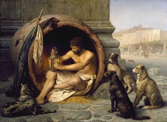 Diogène de Sinope (413 - 327 avant Jésus-Christ) : peinture de Jean-Léon Gérôme (1824¿1904) )