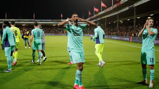 PSV-uitblinker Cody Gakpo blij met winnende kopbal van Marco van Ginkel: 'Niemand speelt expres minder goed bij ons'