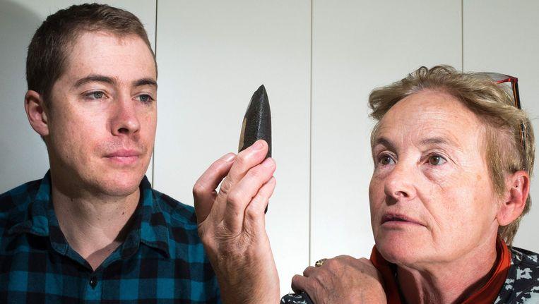 Hoofdarcheoloog Sue O'Connor en doctoraatsstudent Tim Maloney.