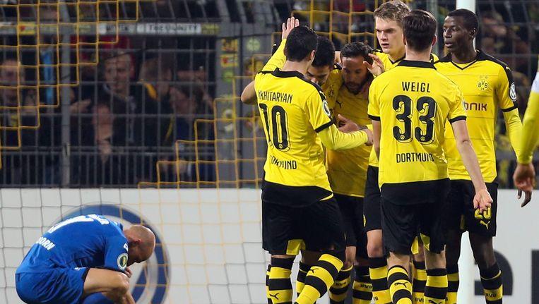 Borussia Dortmund haalde zwaar uit tegen Paderborn: 7-1. Beeld EPA