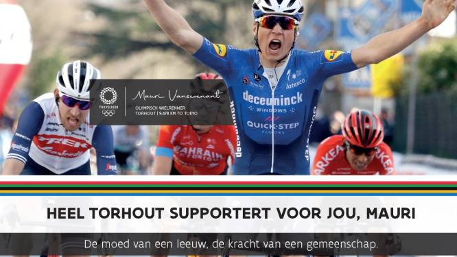 Torhout supportert voor drie Olympiërs met affiches