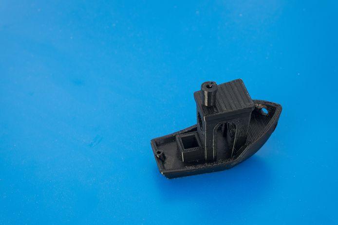 Een voorbeeld van de 3D Benchy sleepboot.