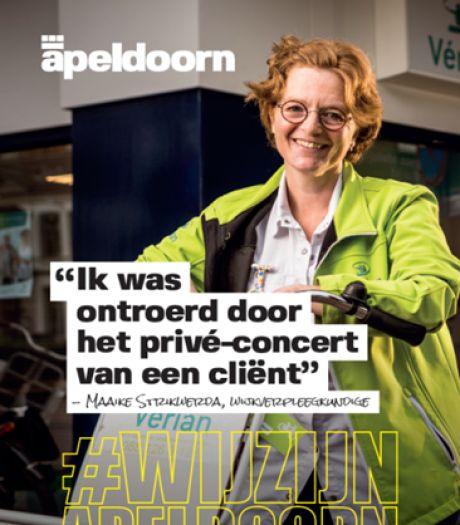 Wat doet het gezicht van de buurvrouw opeens langs de weg in Apeldoorn?