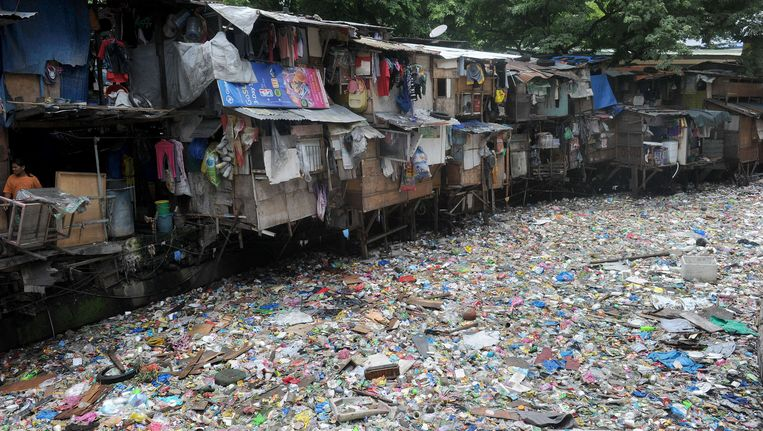 Een sloppenwijk in Manila, de hoofdstad van de Filipijnen. Beeld AFP
