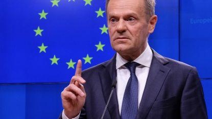 """EU-president Tusk waarschuwt voor """"externe anti-Europese krachten"""" die verkiezingen beïnvloeden"""