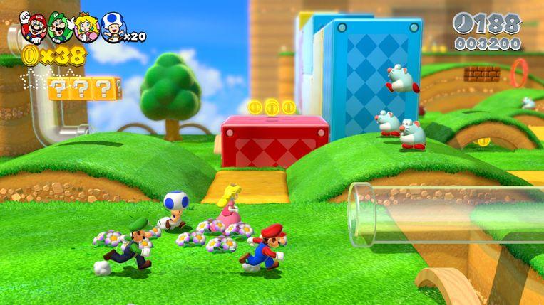 Beeld uit 'Super Mario 3D World', de comebackgame voor de Wii U. Beeld Nintendo