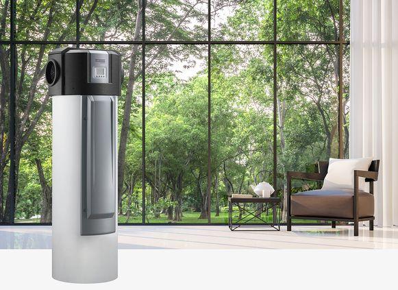 Een warmtepompboiler haalt energie uit de omgevings- of buitenlucht.