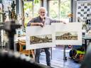 Ad Koomans maakte 360-graden panorama's van 't Vlak, met verhoogde kademuren.