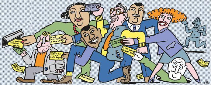 Kunnen we uw pand kopen? De flyers vallen met de duizenden in brievenbussen door de hele stad.