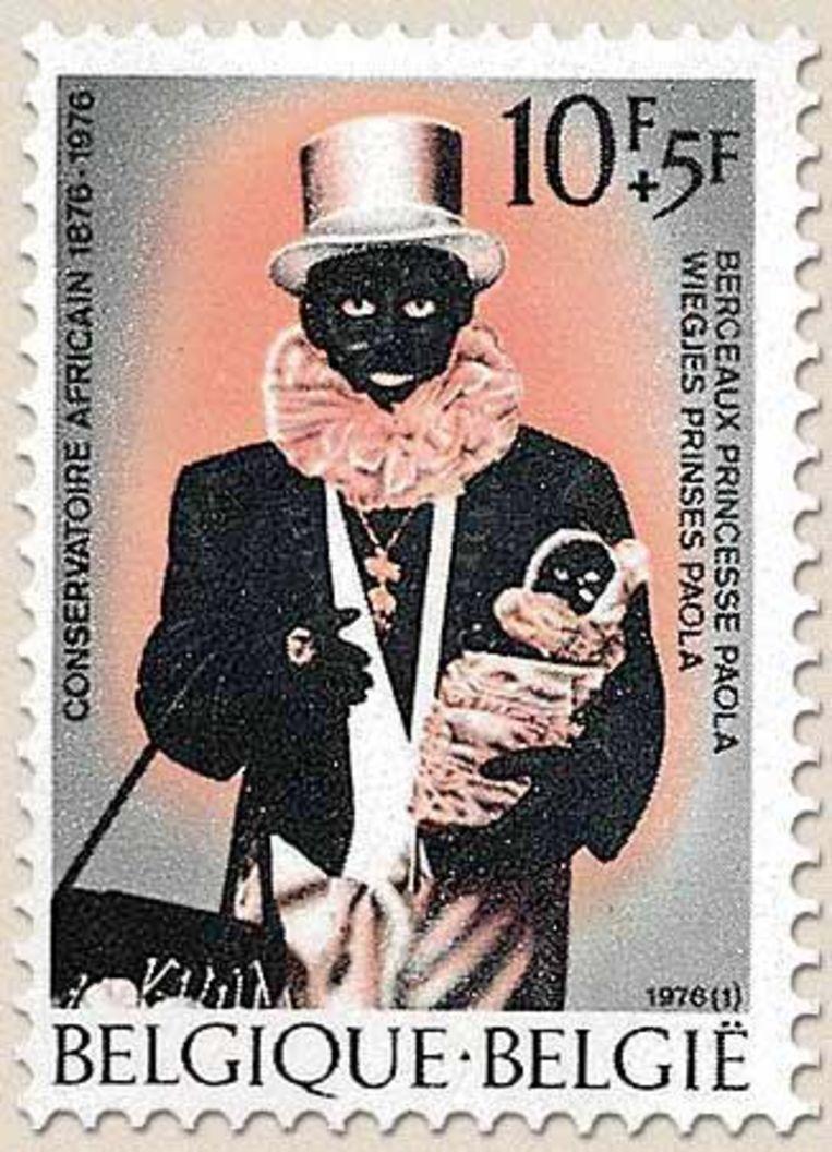 Een postzegel uit 1976, om het honderdjarige bestaan van les Noirauds te vieren. Beeld rv