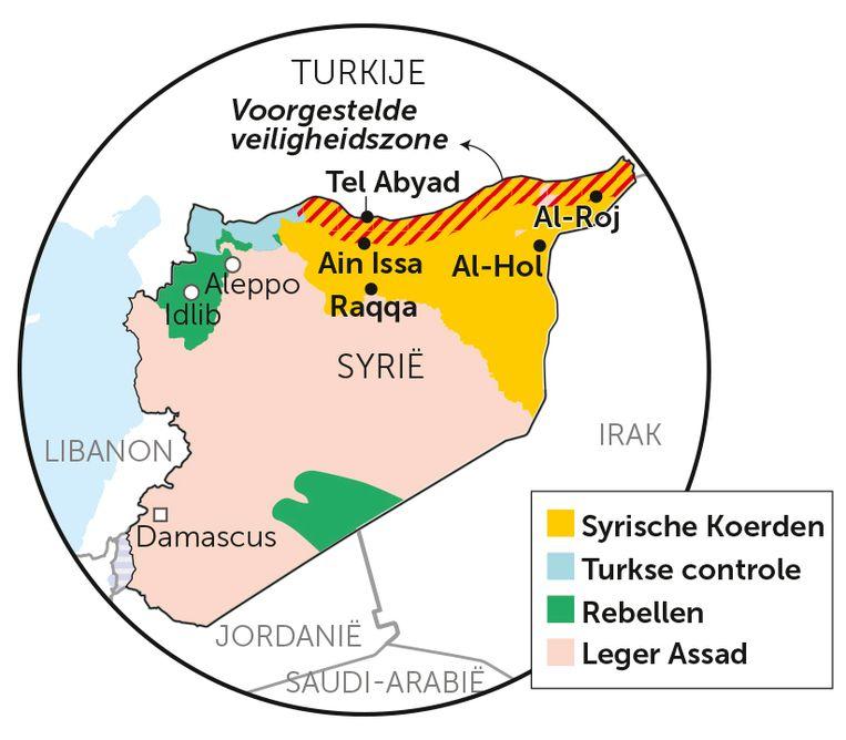 Kaartje Syrië Ain Issa Al Hol Beeld DeMorgen