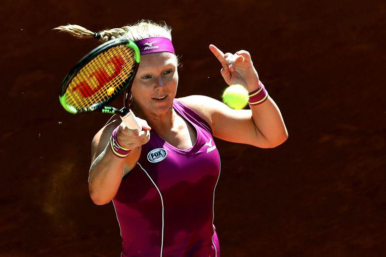 Bertens versloeg  in Madrid Maria Sjarapova in de kwartfinale  Beeld EPA
