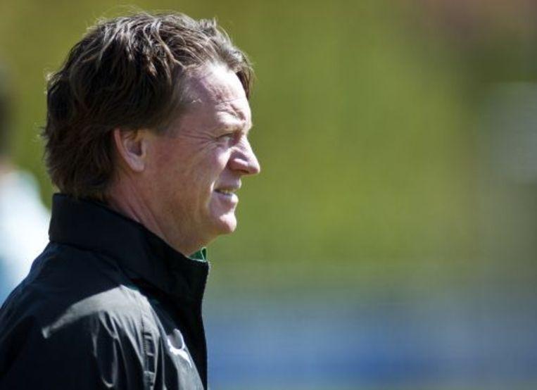 Trainer Mario Been tijdens de training van Feyenoord. ANP Beeld