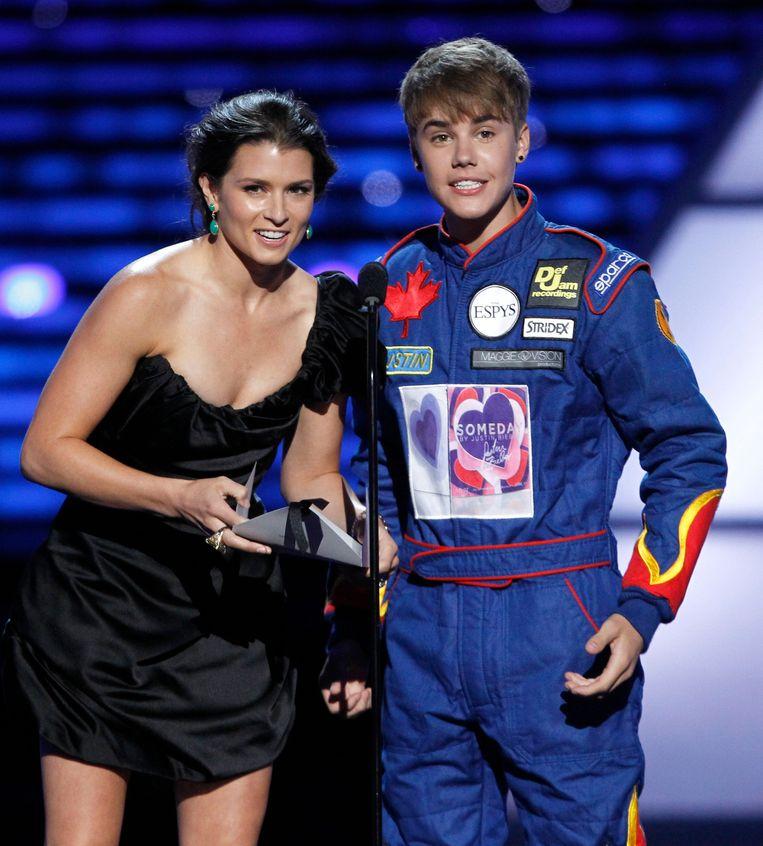 Samen met Justin Bieber op de ESPY Awards in 2011.