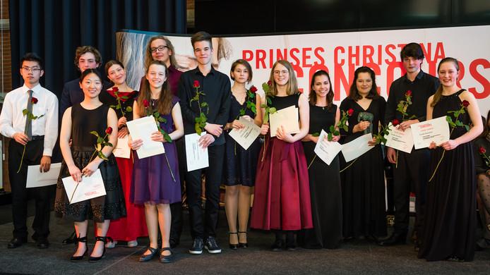 De winnaars van de voorronde van het Prinse Christina Concours