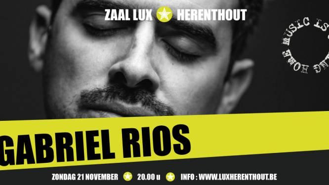 """Zaal Lux verwelkomt Gabriel Rios: """"Een authentieke en artistieke piek"""""""