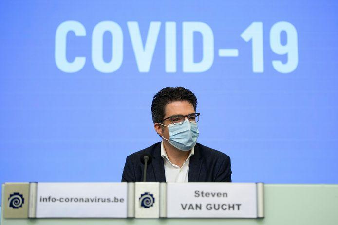 Steven Van Gucht, porte-parole interfédéral
