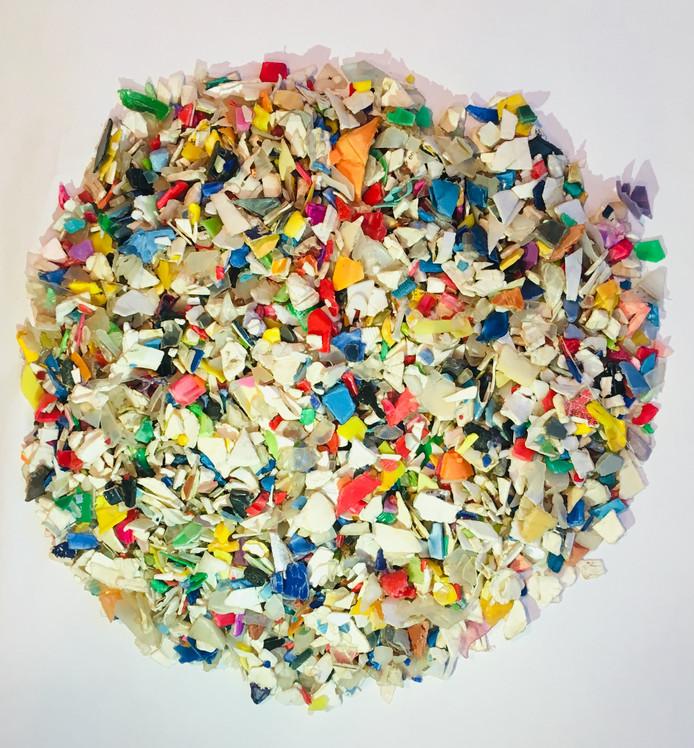 En een voorbeeld van gescheiden plastic afval.