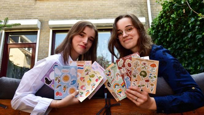 Bergse zusjes maken vrolijke zero waste-stickers