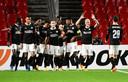 Robert van der Wallen streeft met PSV naar nationaal en internationaal succes, zoals hier eerder dit seizoen in de Europa League-groepsfase.