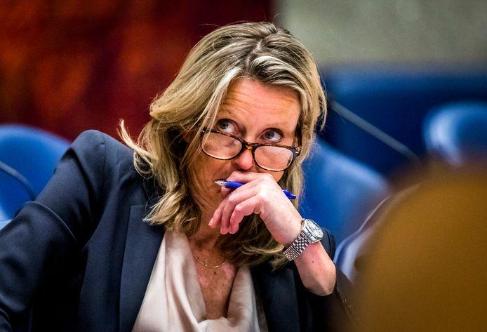 Minister Kajsa Ollongren van Binnenlandse Zaken tijdens een debat in de Tweede Kamer.